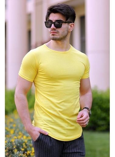 Cool Wear Cool&Wear 12103 Basic Oval Etek Sarı T-Shirt Sarı